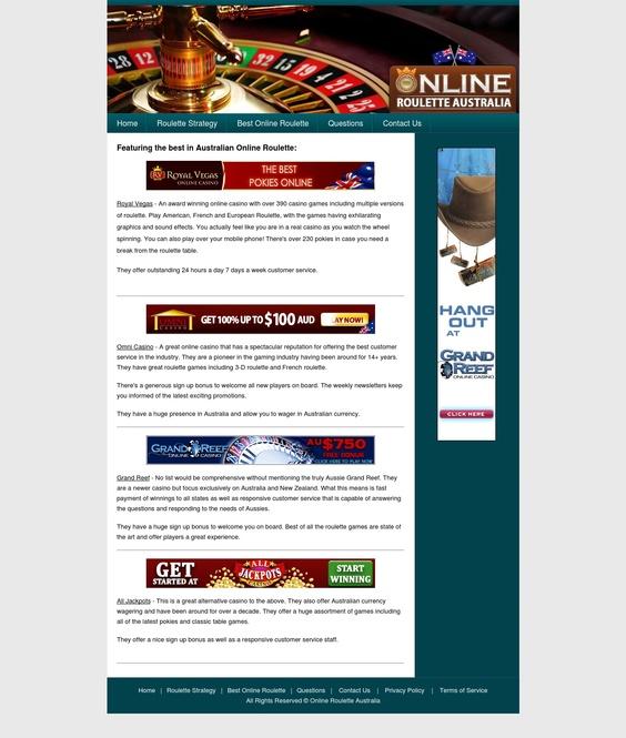 online casino australia roulette